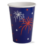 firecrackers paper cup set of 8