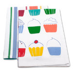 cupcake dishtowel set of 2