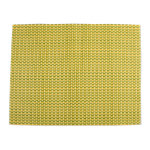 basketweave check yellow placemat