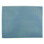 basketweave check blue placemat