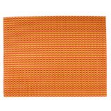 basketweave check orange placemat