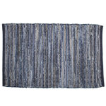 denim chindi blue rug