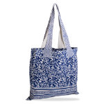 indigo cotton tote bag