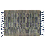 indigo diamond weave placemat