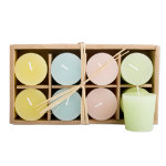 Spring Pastel Votive Candle Set of 8