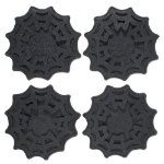 Halloween spiderweb felt coaster set of 4
