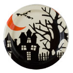 Halloween spooky paper luncheon plate set of 8