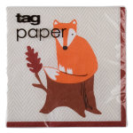 Fall critters paper cocktail napkin set of 20