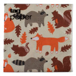 Fall critters paper luncheon napkin set of 20