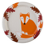 Fall critters paper luncheon plate set of 8