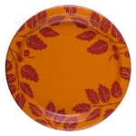Autumn harvest paper dinner plate set of 8