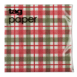 Winter Plaid Paper Cocktail Napkin Set of 20