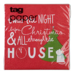 Happy Holidays Paper Cocktail Napkin Set of 20