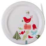 Happy Holidays Paper Dinner Plate Set of 8