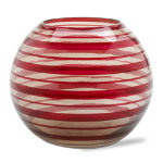 Swirl Red Glass Votive Holder
