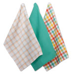 kitchen plaid dishtowel set of 3