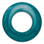 hoops teal napkin ring
