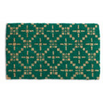 geometric diamond coir mat