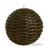 wicker decorative ball candle