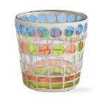 spring mosaic glass votive holder