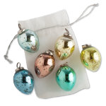 easter egg mercury glass ornament set of 6