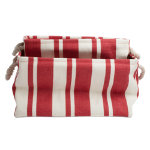 hudson stripe red rectangular crunch bag set of 2