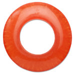 hoops orange napkin ring