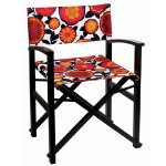 Campaign Chair - Veranda on Black Glossy Frame