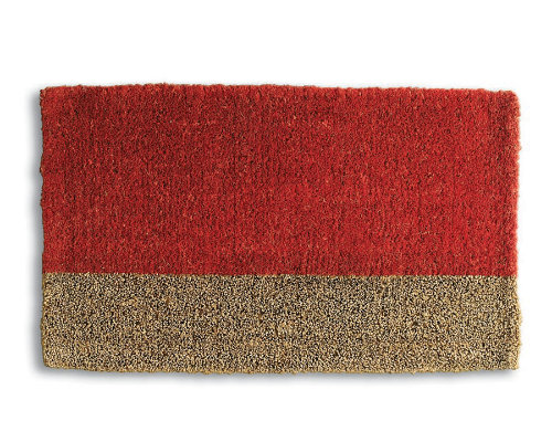 Two Tone Red Coir Mat
