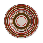 Sonoma Chocolate Stripe Salad Plate