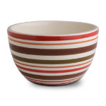 Sonoma Chocolate Stripe Soup/Cereal Bowl