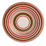 Sonoma Chocolate Stripe Dinner Plate