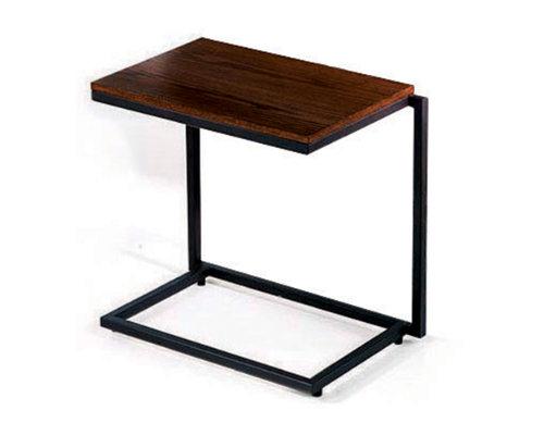 Stacking c table wide safari on black frame tag u