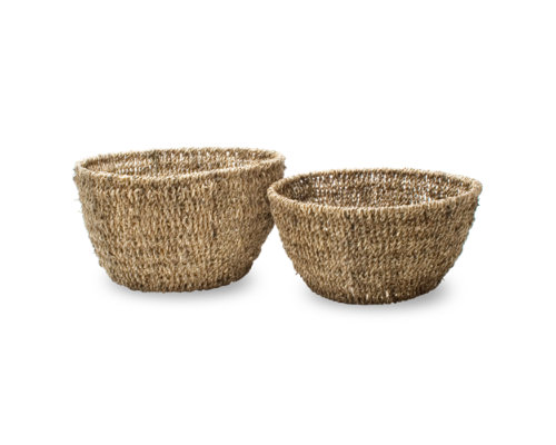 Seagrass Natural Round Basket Set of 2