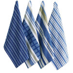 basic blue dishtowel set of 4