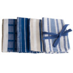 basic blue dishcloth set of 4
