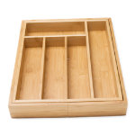 Bamboo Adjustable Flatware Drawer Organizer