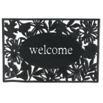 welcome rubber door mat
