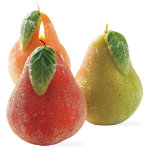 Sugared pear candle set of 3
