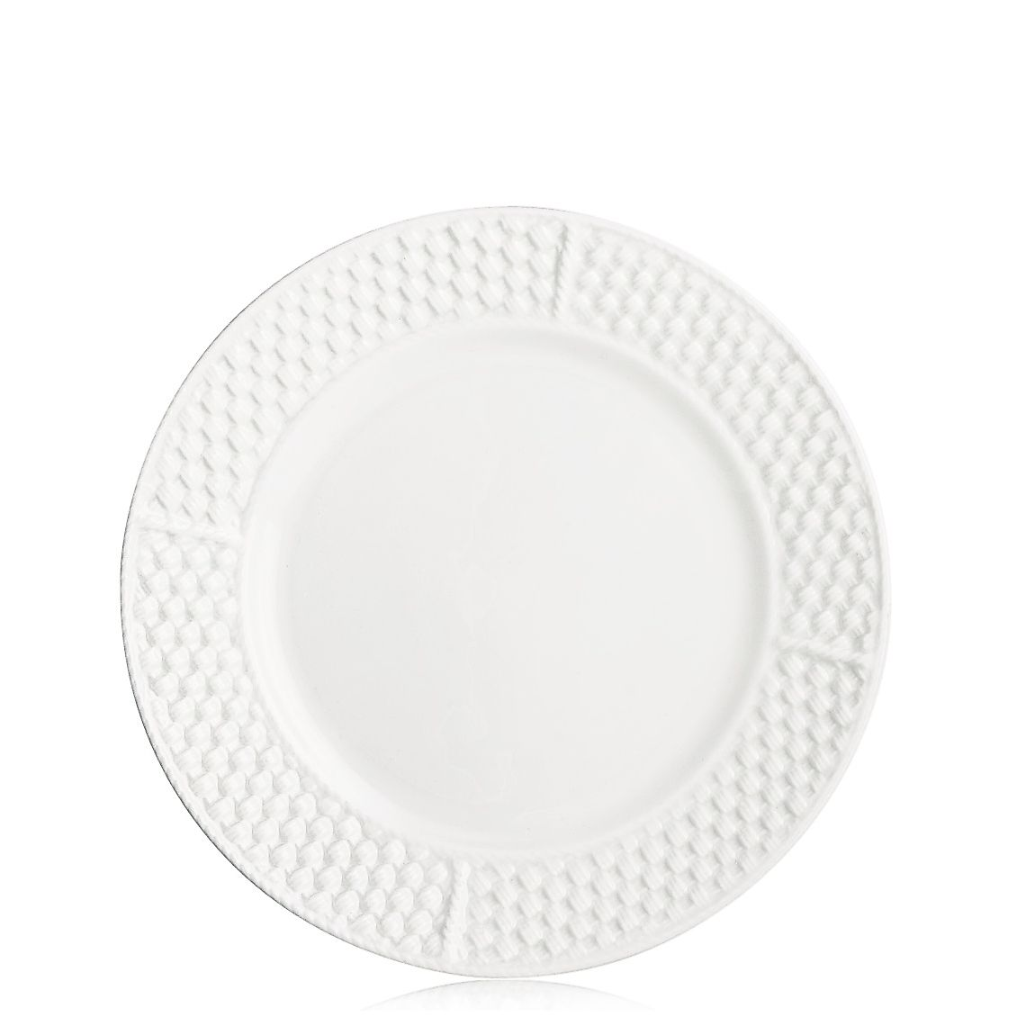 tiffany weave dessert plate in irish parian bone china  tiffany  - tiffany weavedessert plate