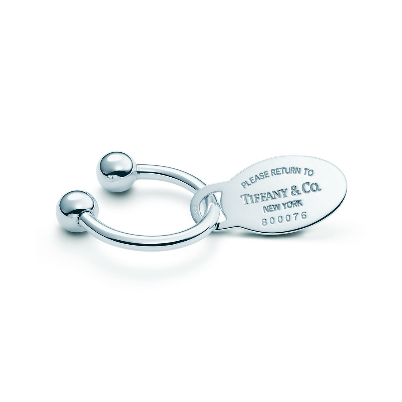 Accessories Key Rings Return To Tiffany Oval Tag Key Ring 15882301 Tiffany Sterling Silver Key Chain