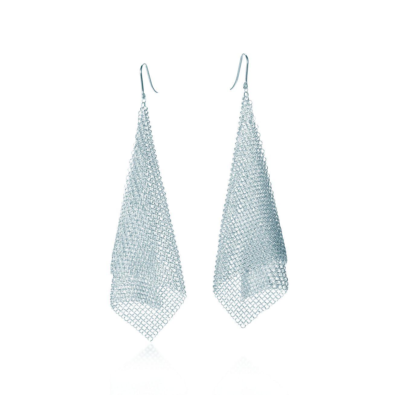 Jewelry Earrings Elsa Peretti Mesh Scarf 18385414 Tiffany Earrings Sterling