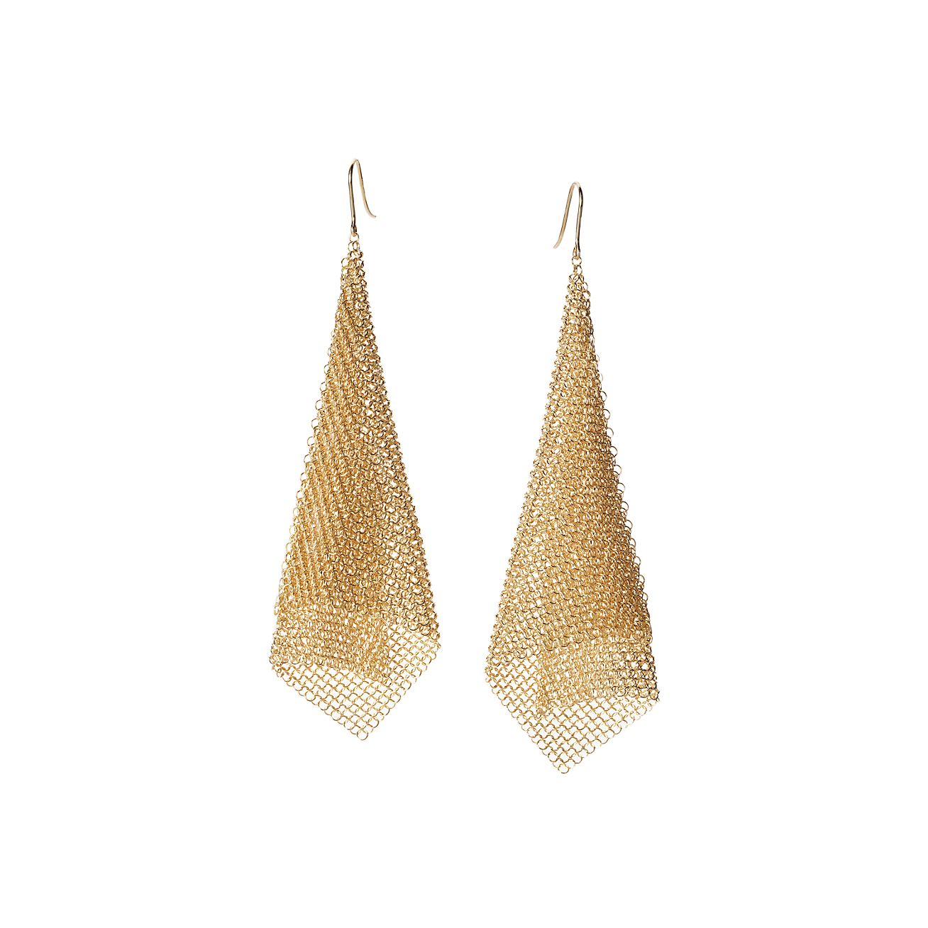 tiffany and co earrings gold