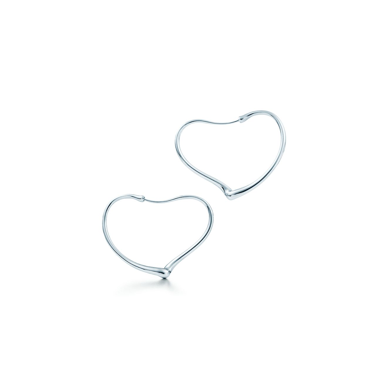 Jewelry Earrings Elsa Peretti Open Heart Hoop Earrings Grp00446 Tiffany Earrings Heart