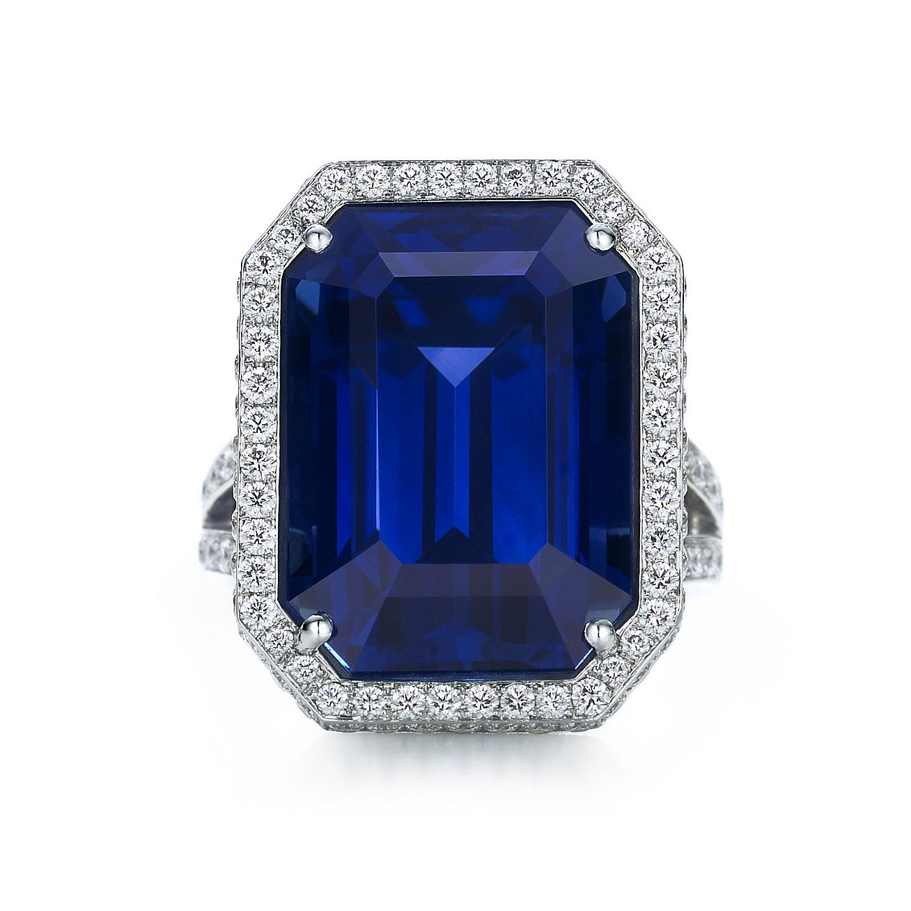 Tiffany Diamond And Sapphire Engagement Ring