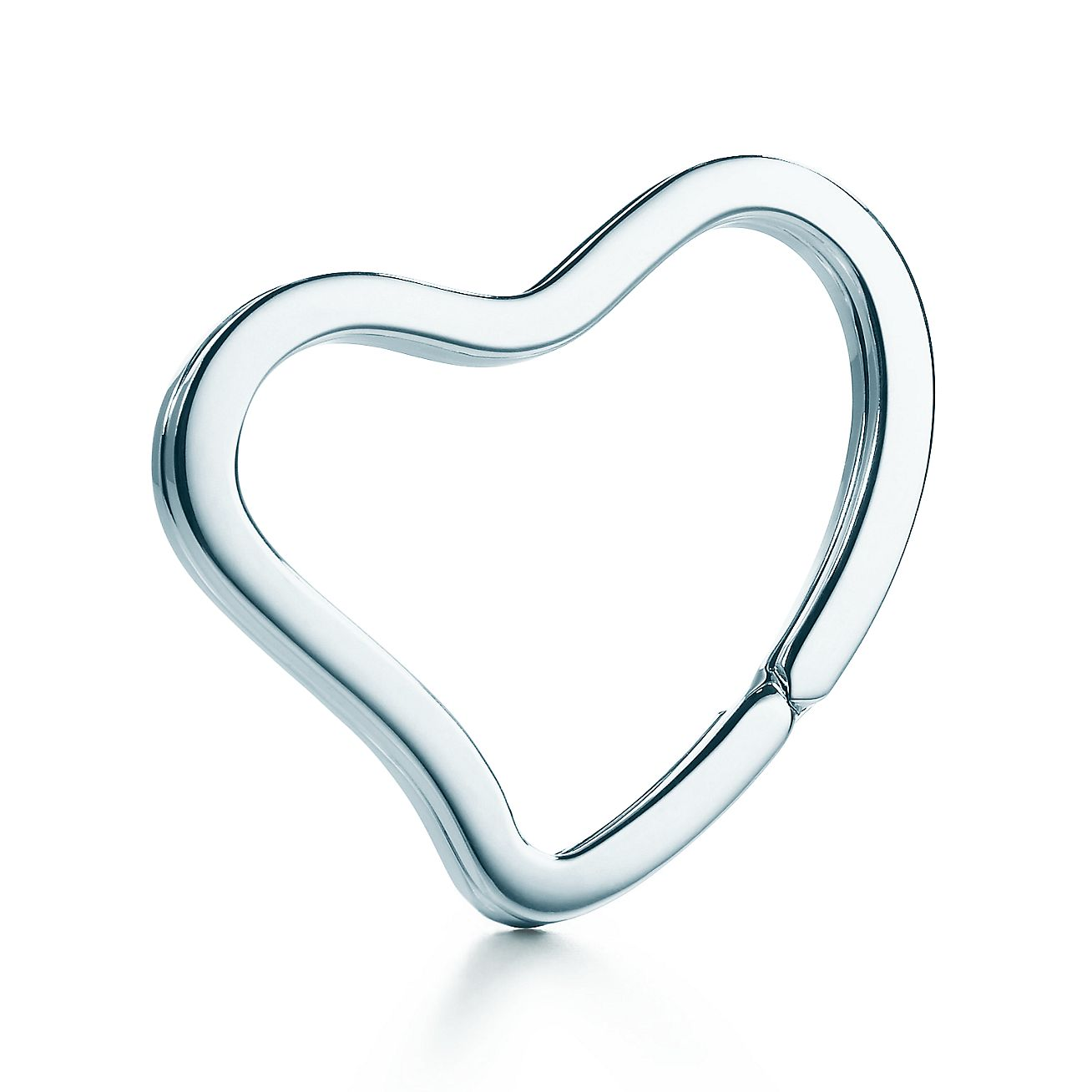 Accessories Key Rings Elsa Peretti Open Heart Key Ring 19976912 Tiffany Sterling Silver Key Chain