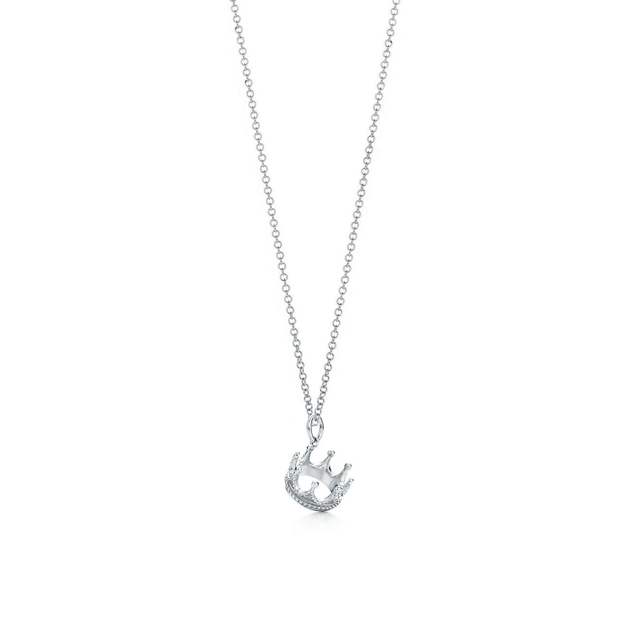 Jewelry Necklaces Pendants Crown Charm And Chain Grp02344 Tiffany Charms For Sale