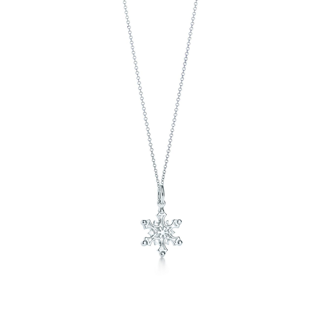 a0e0825ea ... browse tiffany silver jewelry. snowflake charm and chain ...