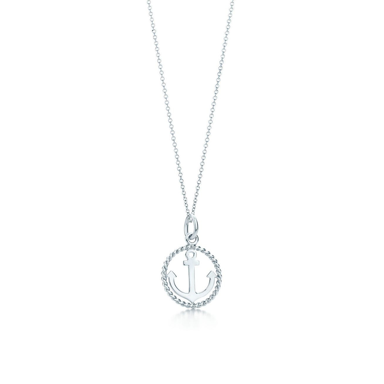 Jewelry Necklaces Pendants Tiffany Twist Anchor Charm And Chain Grp04677 Tiffany Chain Necklace
