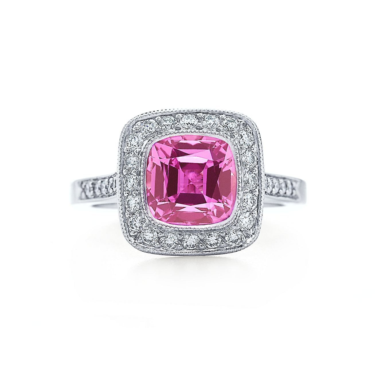 Tiffany Sapphire Engagement Ring; Tiffany Legacy Collection™ Pink Sapphire  Ring